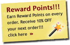 Earn 10% Off your next Order using Reward Points