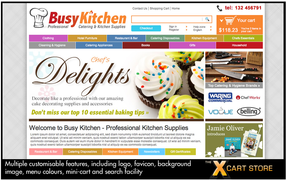 Busy Kitchen - our most advanced x-cart template to date, 100