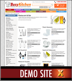 Busy Kitchen X-Cart Template Live Demo Website