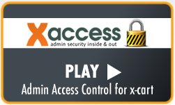 xAccess Admin Security for x-cart