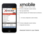 xMobile 100% custom designed interfaces